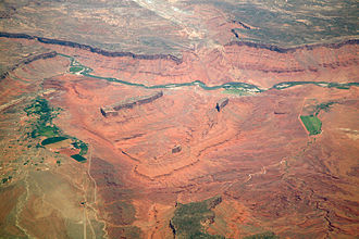 Castle Valley, Utah - Castle Valley and the Colorado River from the air. Photo by Doc Searls.