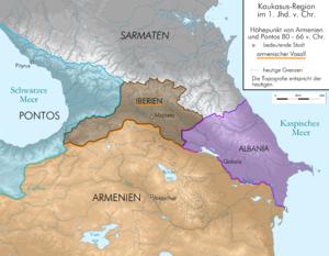 Pompey's Georgian campaign - Caucasus before Roman conquests, 80-66 BC