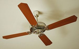 Ceiling fan (photo taken in an hotel in India)