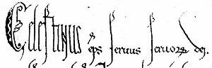Pope Celestine III - Image: Celestinus II Ititel