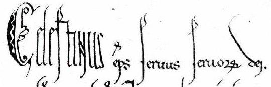 Celestine III's signature