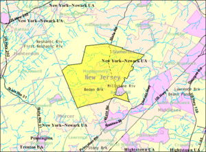 Montgomery Township, New Jersey - Image: Census Bureau map of Montgomery Township, New Jersey
