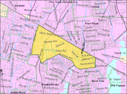 Census Bureau map of Montvale, New Jersey