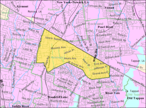 Montvale, New Jersey - Image: Census Bureau map of Montvale, New Jersey