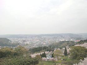 Central Ijuin view from Ichiuji Castle ruin.JPG