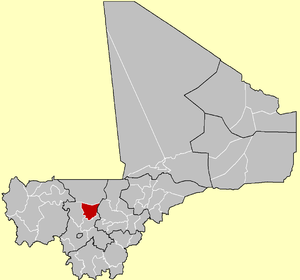 Location of Banamba Cercle in Mali