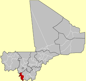 Location of the Cercle of Yanfolila in Mali