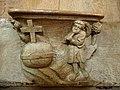 Champeaux (77) Collégiale Stalles hautes nord Miséricorde 04.JPG