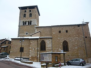 Charnay, Rhône - The church in Charnay