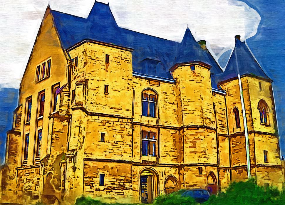 Chateau of the Dukes of Alençon now the Court House (Palais de la Justice)