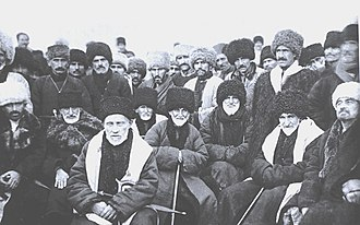 Deportation of the Chechens and Ingush - Delegates of the Congress of proclaiming the Chechen autonomous region. The 15th of January 1923