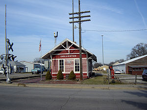 Chicago, Rock Island and Pacific Railroad - The former Rock Island Depot at Chillicothe, Illinois, now a railroad museum