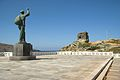 Chora of Andros, monument in front of the Maritime Museum, 090605.jpg