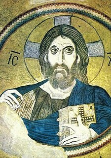 Byzantine image depicting Jesus as Christ pantocrator