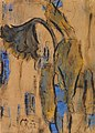 Christian Rohlfs Welkende Sonnenblumen mit Blau 1922.jpg