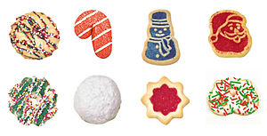 Christmas cookies (Left to right, top to botto...