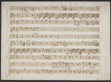 """Beginn der Arie """"Misero e che farò"""" aus Alceste im Autograph (Quelle: Wikimedia)"""