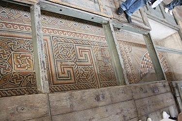 Church of the Nativity mosaic floor 2010.jpg