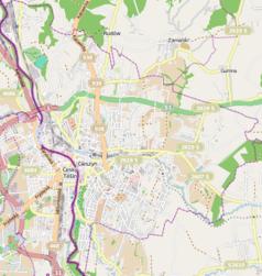 Mapa lokalizacyjna Cieszyna