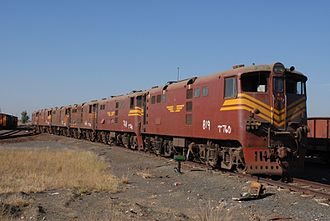 South African Class 5E1, Series 3 - No. E819 waiting to be cut up at Danskraal in Ladysmith, KwaZulu-Natal, 26 April 2007