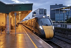 Class IET units 800006 and 800005 at Cardiff Central - Flickr - Dai Lygad.jpg