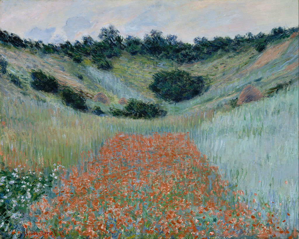 """Poppy Field in a Hollow near Giverny"" by Claude Monet – Joy of Museums"