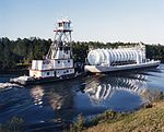 Clermont II moving a LOX barge in 1987 (87-178-11).jpg