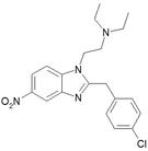 Chemical structure of Clonitazene.