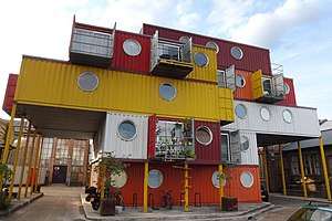 Trinity Buoy Wharf - Image: Cmglee Container City 2