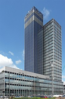 CIS Tower skyscraper on Miller Street in Manchester, England