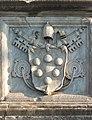 CoA Clemens VII Medici bridge Sant'Angelo, Rome, Italy.jpg