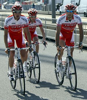 Cofidis Tour 2010 prologue training.jpg