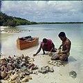 Collectie Nationaal Museum van Wereldculturen TM-20029676 Vissers vissen op kark¾, vermoedelijk bij de lagune Lac Bonaire Boy Lawson (Fotograaf).jpg