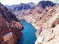 Colorado River Nevada - Water leaving the dam. - panoramio.jpg