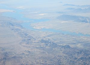 Lake Mohave - Image: Colorado River Upstream from Lake Mohave 2013