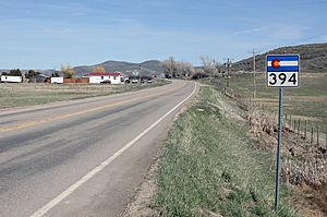 Colorado State Highway 394 - Image: Colorado State Highway 394