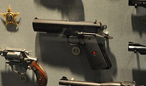 Colt Delta Elite - A Delta Elite on display at the National Firearms Museum. Police issue from Hartford, CT.