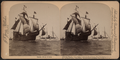 "Columbus' flagship ""Santa Maria,"" Columbus Naval parade, New York Harbor, U.S.A, from Robert N. Dennis collection of stereoscopic views.png"