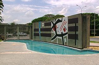 Art of Mateo Manaure in University City of Caracas