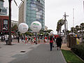 Comic-Con 2010 - girls attached to balloons for USA network shows (4858991779).jpg