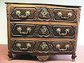 Commode cintrée style Louis XV, 18e, godron, coquille, fleur, feuillage 1.JPG
