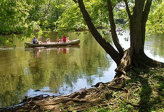 Concord River - Canoes on the Concord River