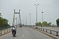 Concrete Cable Stayed Bridge - Across River Yamuna - NH 27 - Allahabad 2014-07-04 5613.JPG