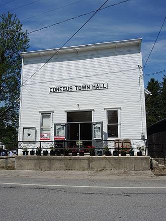 Conesus, New York - Conesus town hall