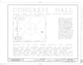 Congress Hall, Sixth and Chestnut Streets, Philadelphia, Philadelphia County, PA HABS PA,51-PHILA,6A- (sheet 1 of 35).png