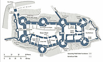 Conwy Castle - Plan of the castle