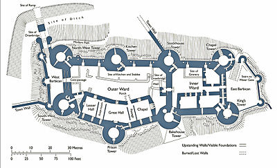 In The Middle Ages Castle Floor Plan Design on dover castle floor plan