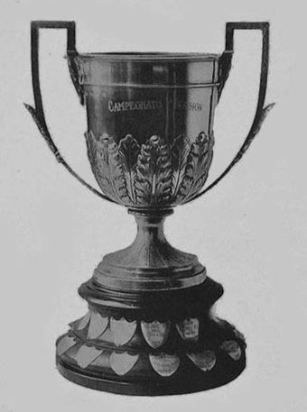 The Copa Campeonato was the first trophy awarded by the AFA, then abandoned and re-issued from 2013 to 2015. Copa Campeonato.JPG