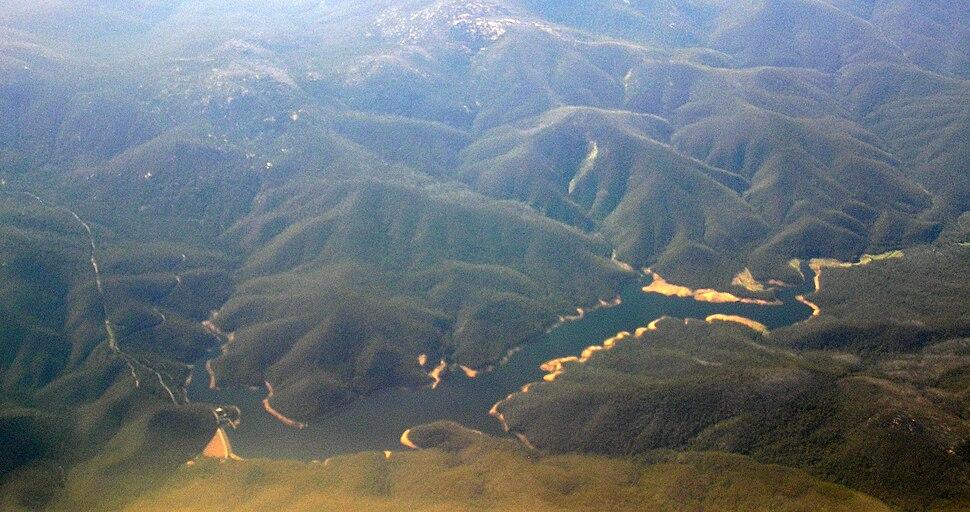 Corin Dam aerial W