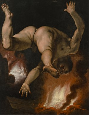 Ixion - The Fall of Ixion by  Cornelis van Haarlem